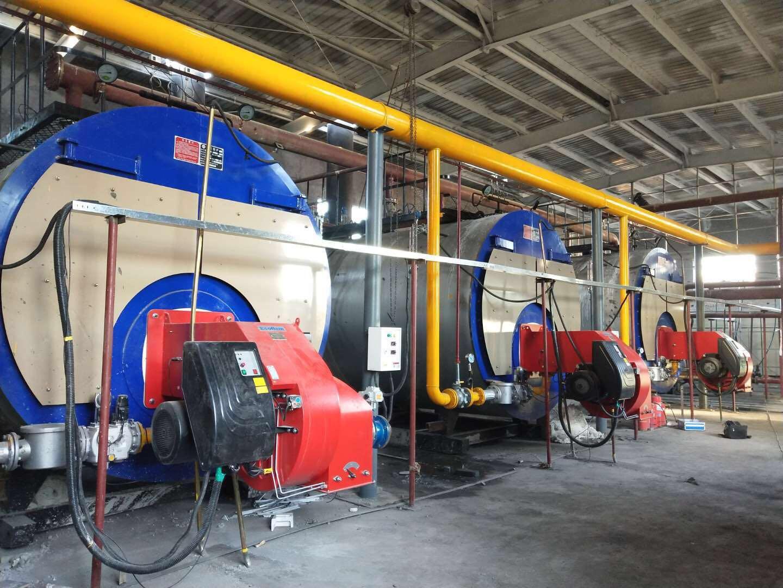 3台15吨燃气蒸汽万博亚洲官方手机下载运行现场